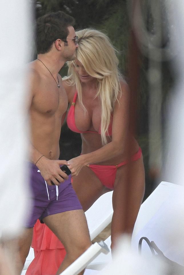 Victoria Silvstedt enjoys the beach in St Barths