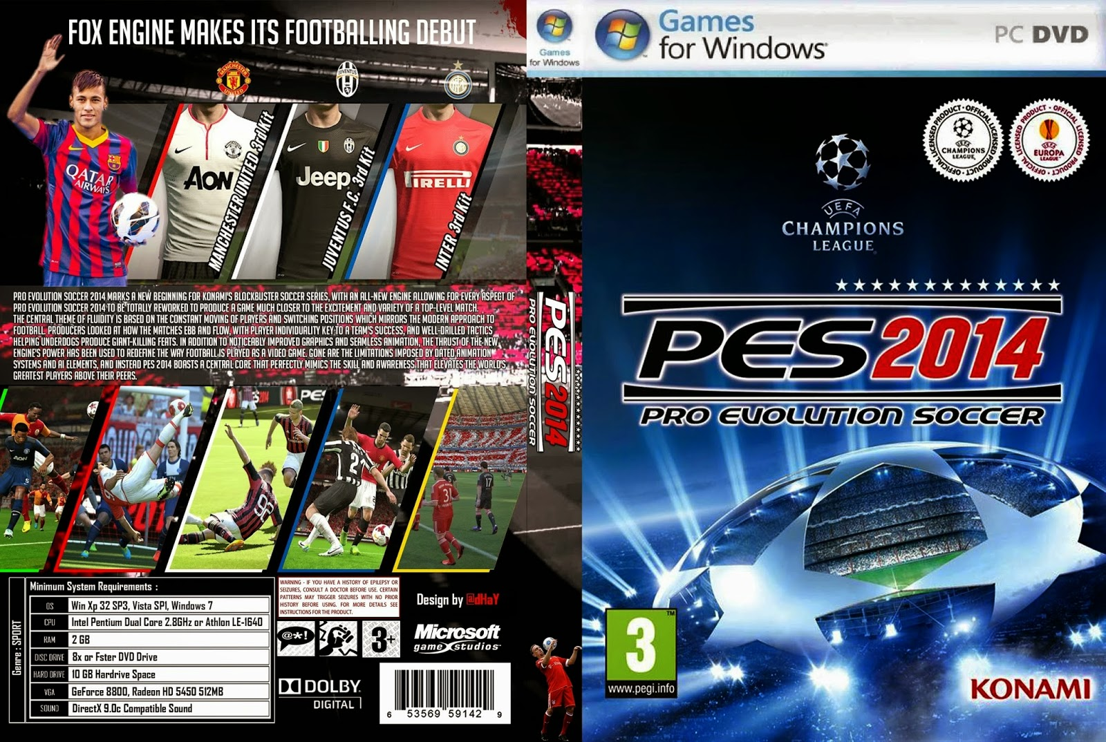PES/Pro Evolution Soccer 2014 PC DVD Capa