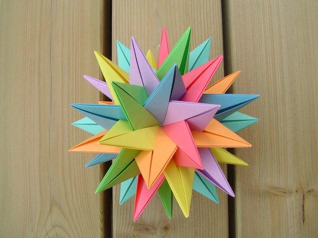 Origami Maniacs: Origami TUVWXYZ Star ( 3D Stern )