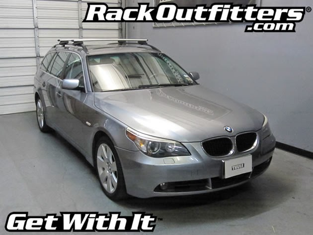 BMW 5 Series Wagon Thule Rapid Crossroad SILVER AeroBlade Roof Rack ...