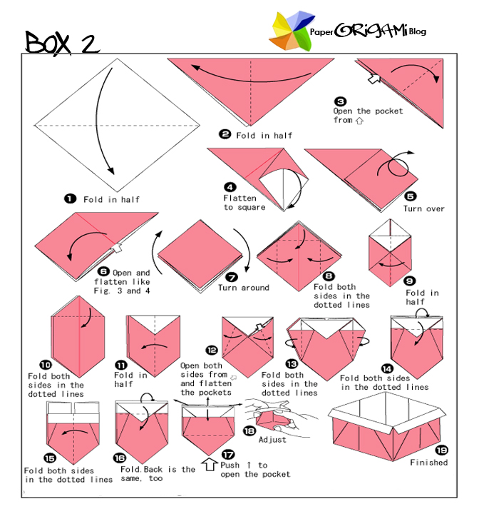 How To Make Origami Box | Party Invitations Ideas - photo#39