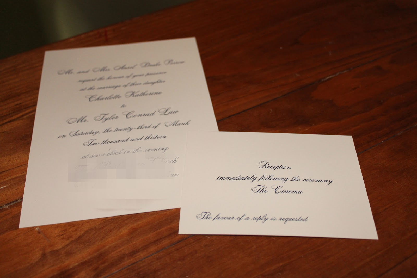 Laws in the Lowcountry Wedding Wednesday Invitations