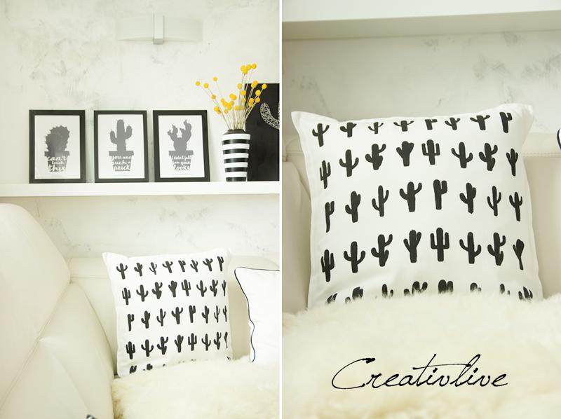 diy nagel fadenbild kaktus und ein kissen creativlive. Black Bedroom Furniture Sets. Home Design Ideas