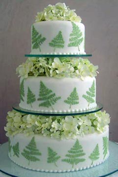 World Of Cakes Three Tier Pistachio Green And White Weddin