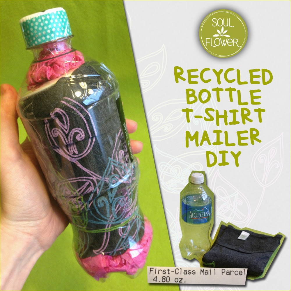 share t shirt mailer - 13 Oz or Less - A Recycled Bottle Mailer DIY
