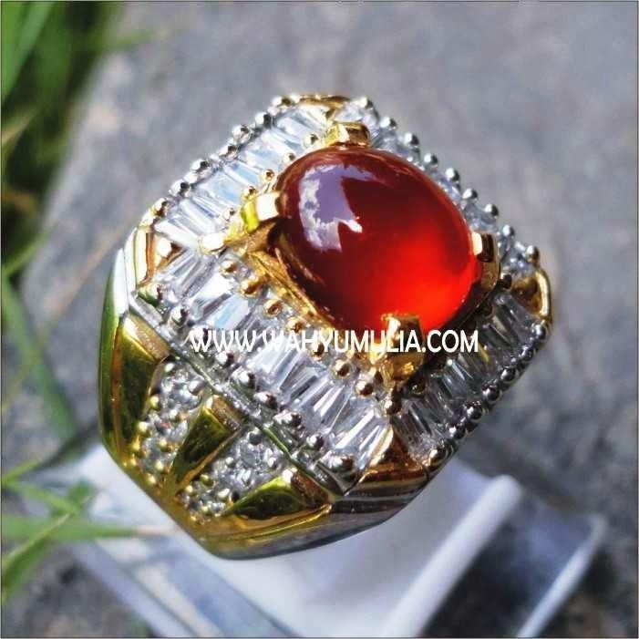 cincin batu permata red baron pacitan stone, khasiat red baron pacitan