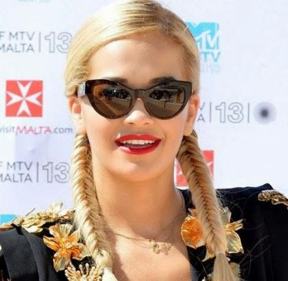 Rambut Kepang Rita Ora Artis Cantik
