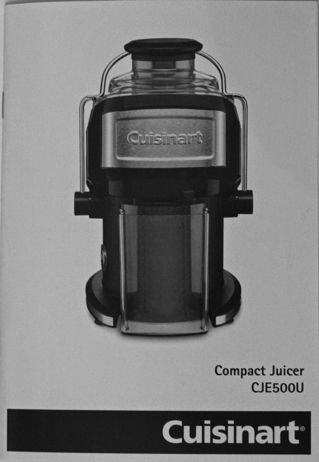 Cuisinart Compact Juicer Instructions
