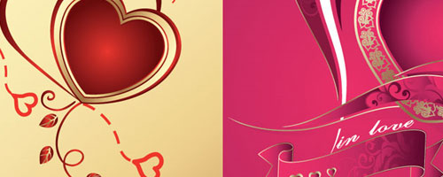 50+ Free Illustrator Valentine Vector Hearts Set