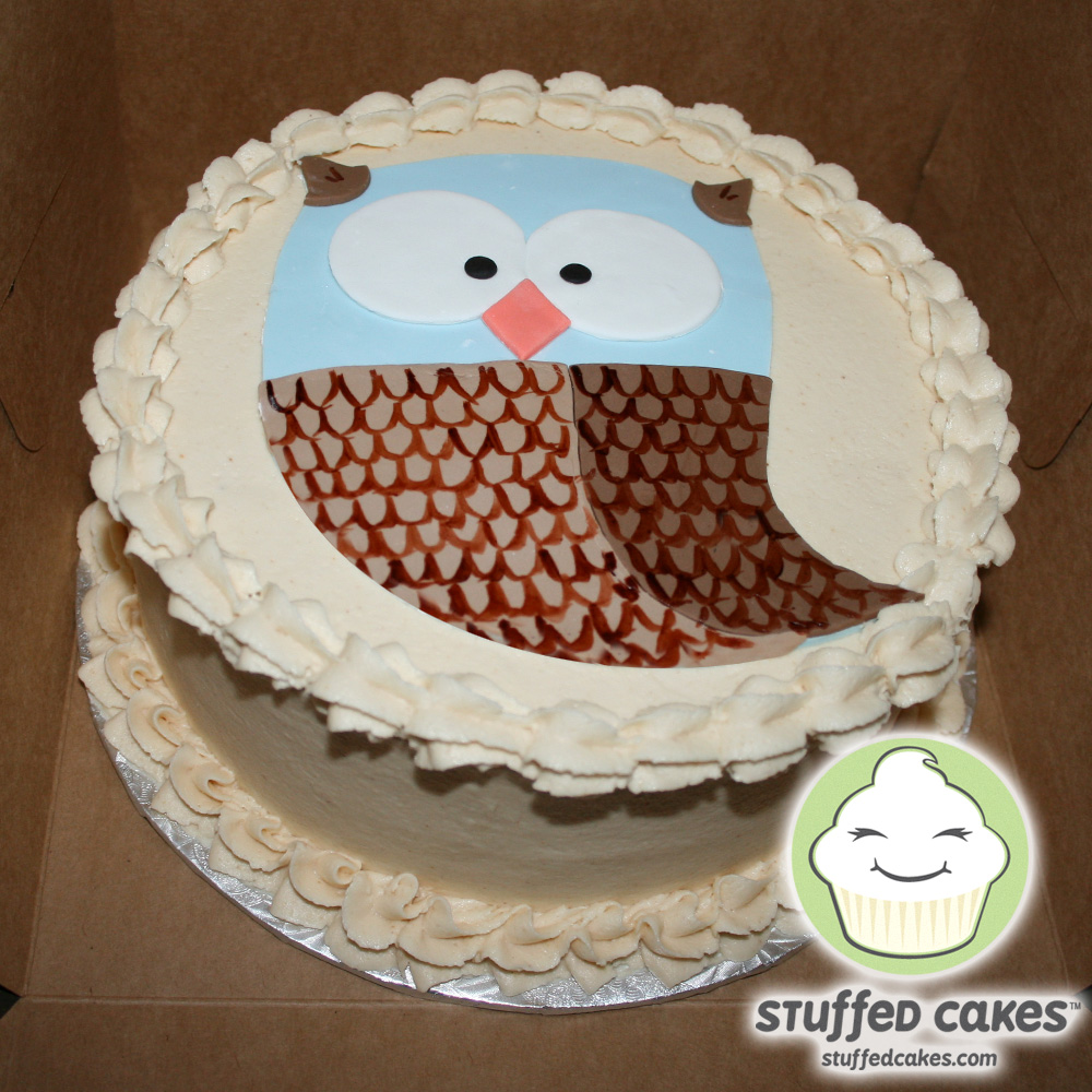 Owl Cupcakes For Baby Shower: Stuffed Cakes: The Owl And The Twister Dodge Ball Baby