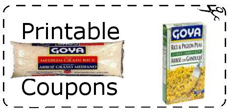 Spanish food coupons printable