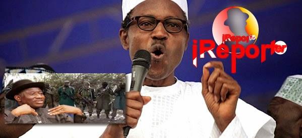 iReportNigeria: Buhari accuses Jonathan of playing politics with security