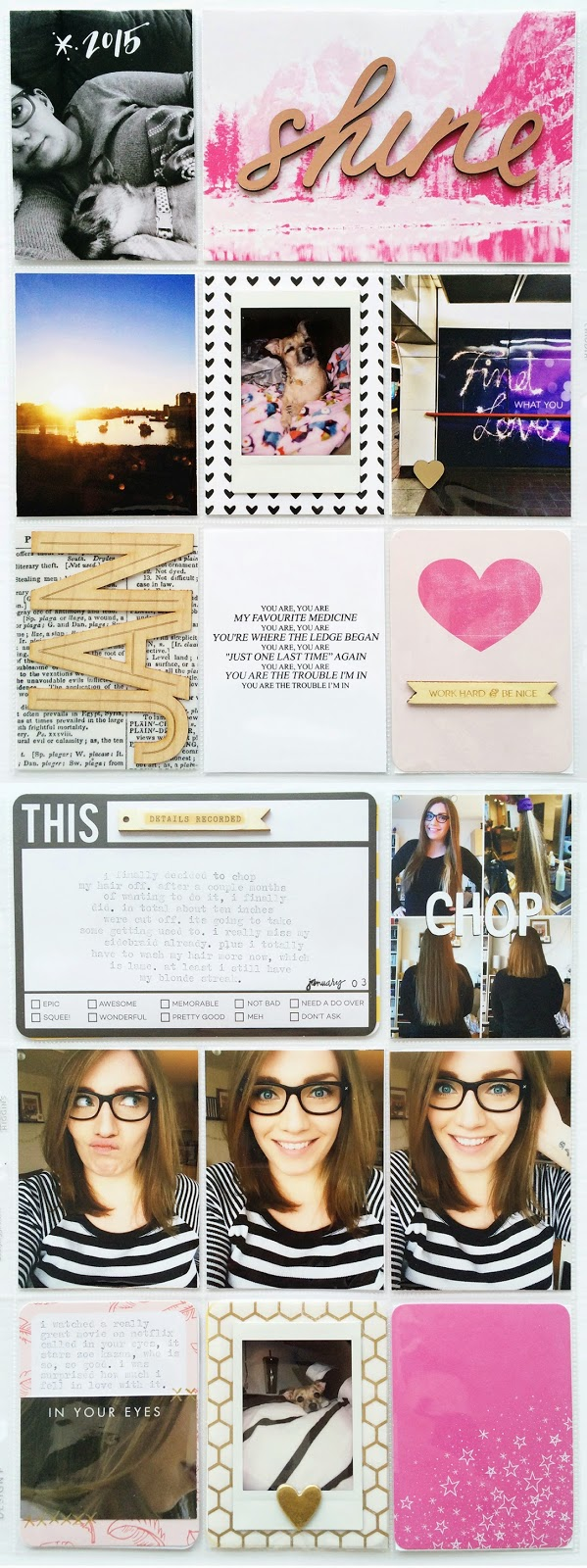Project Life: January One by tracyxo | the single girl's scrapbook
