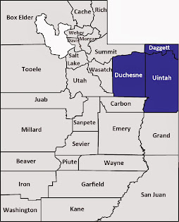 Daggett, Duchesne and Uintah counties