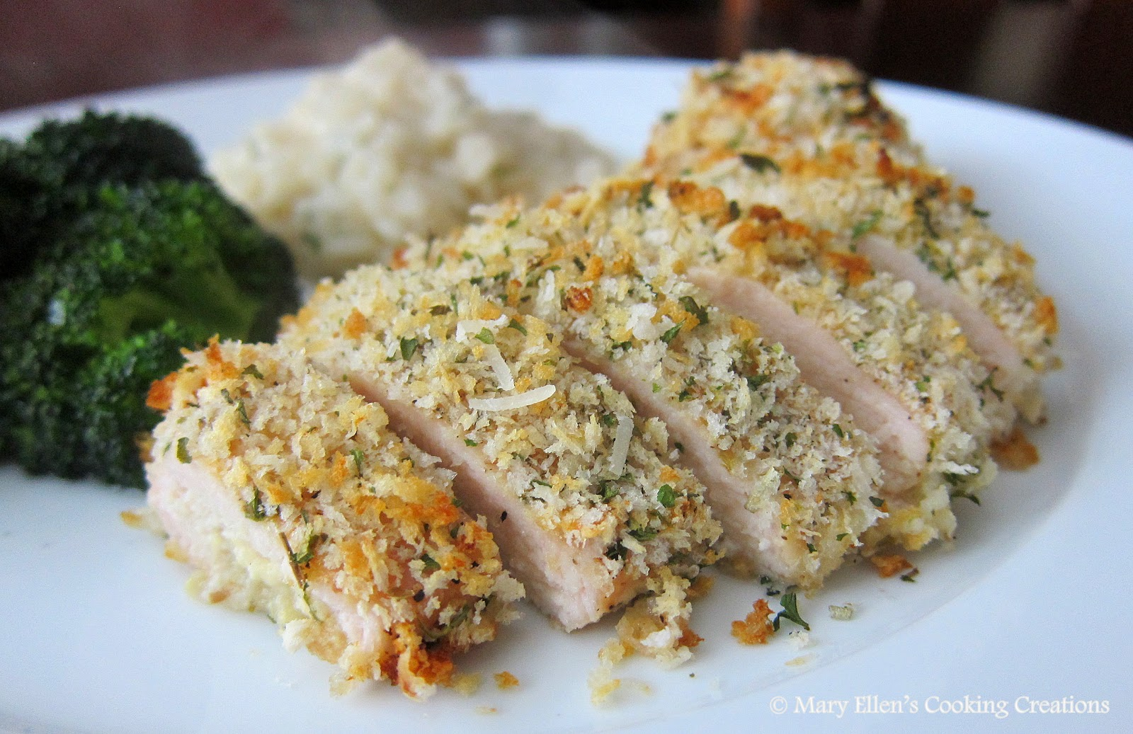 ... Ellen's Cooking Creations: Dijon-Garlic-Herb Panko Crusted Chicken