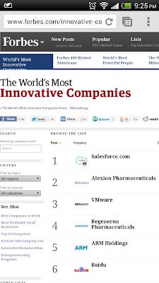 福布斯全球最具創新力公司