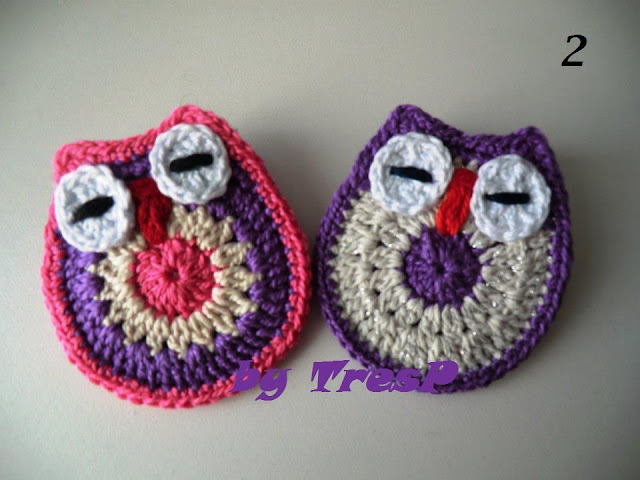 TresP craft blog: BÚHOS DE CROCHET TUTORIAL