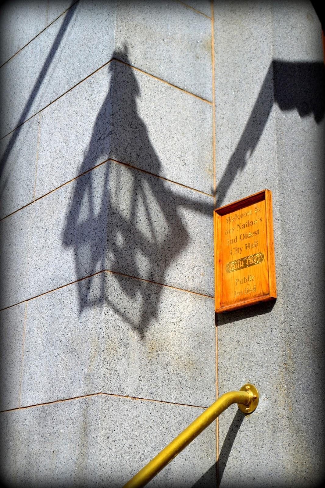 City Hall, Salem, Massachusetts, shadow, lantern