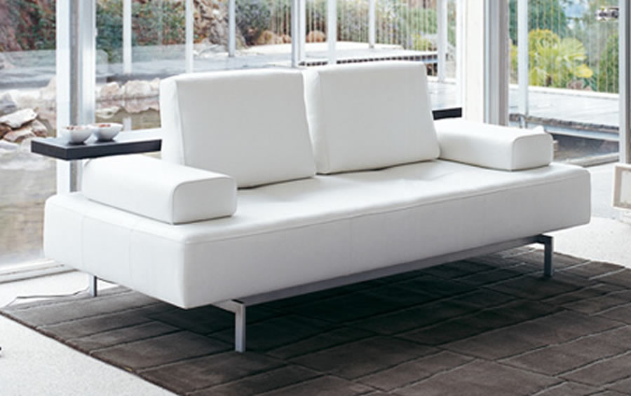 Modern white sofa designs an interior design Designer loveseats