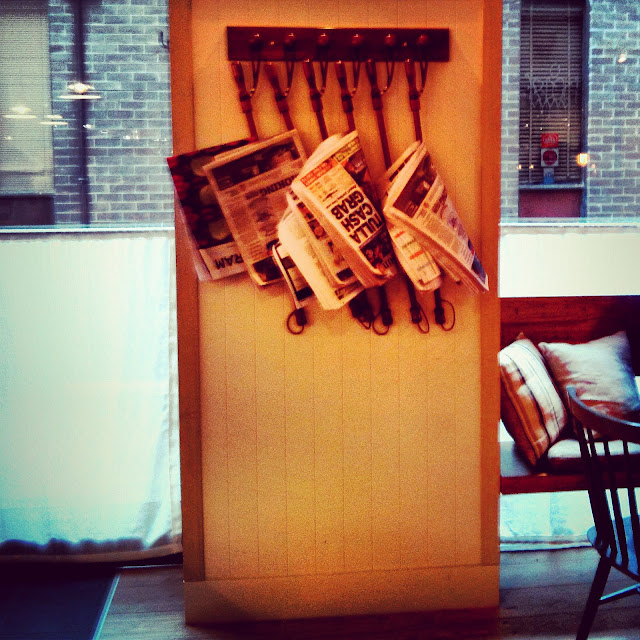 Newspapers on the rack