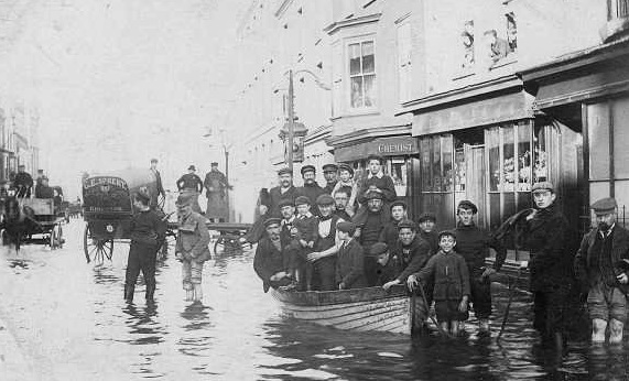Floods in Broad Street