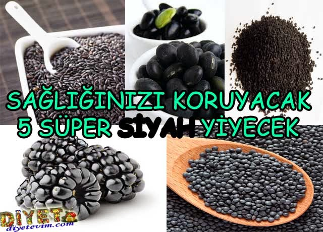 siyah yiyeceklerin faydaları