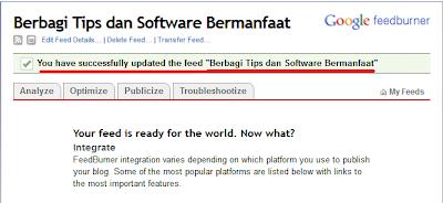 Cara Mendaftarkan Website/Blog di Google Feedburner