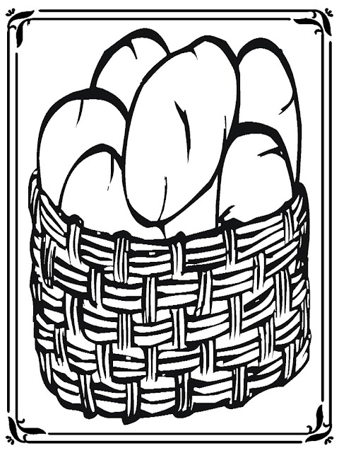 potato basket coloring pages