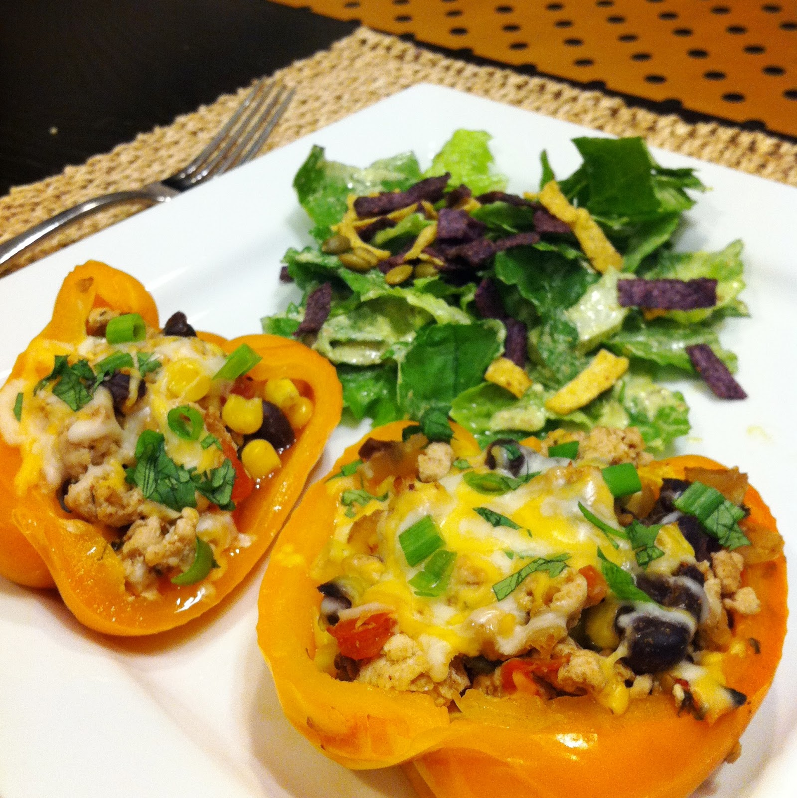 The Laidlaws: { Santa Fe Turkey Stuffed Peppers }