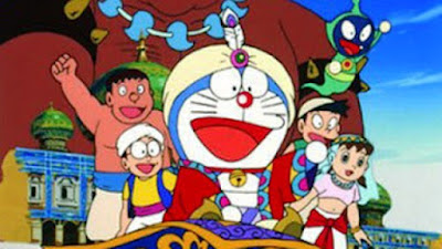 Doraemon dan Nobita di negeri angin