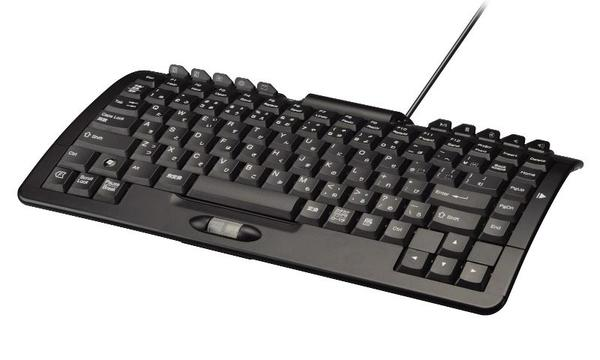 Arch Type Computer Keyboard with Retractable Keypad
