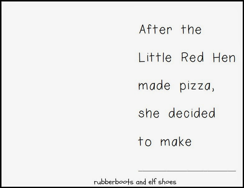 The Little Red Hen Make a Pizza: read, create and write - rubber boots ...