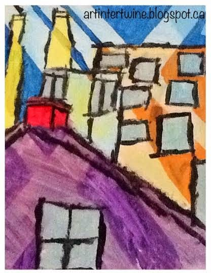 Art Intertwine - Cityscape Painting for kids