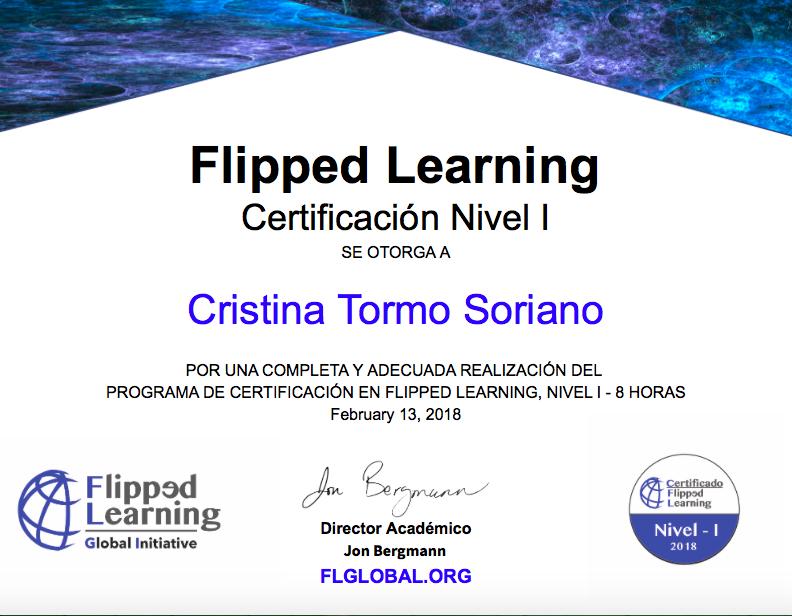 Certificado Flipped Learning