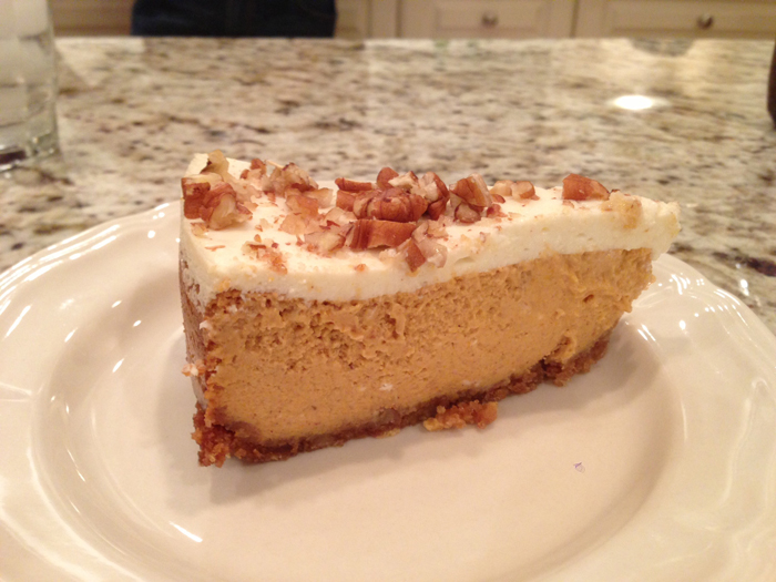 Recipe Bourbon Pumpkin Cheesecake By Smitten Kitchen Avie