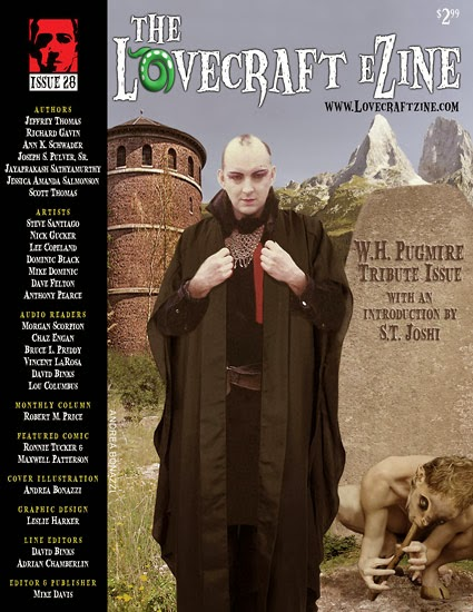 Lovecraft eZine #28: W.H. Pugmire Tribute Issue, cover