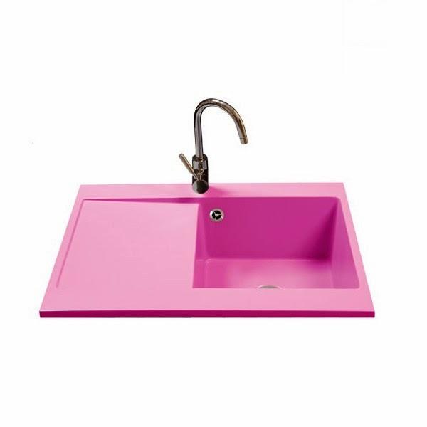 fregadero escurridor moderno precio rosa ROMERO urdaplast
