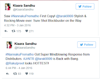 NannakuPrematho KiaaraSandhu Review on Twitter Page