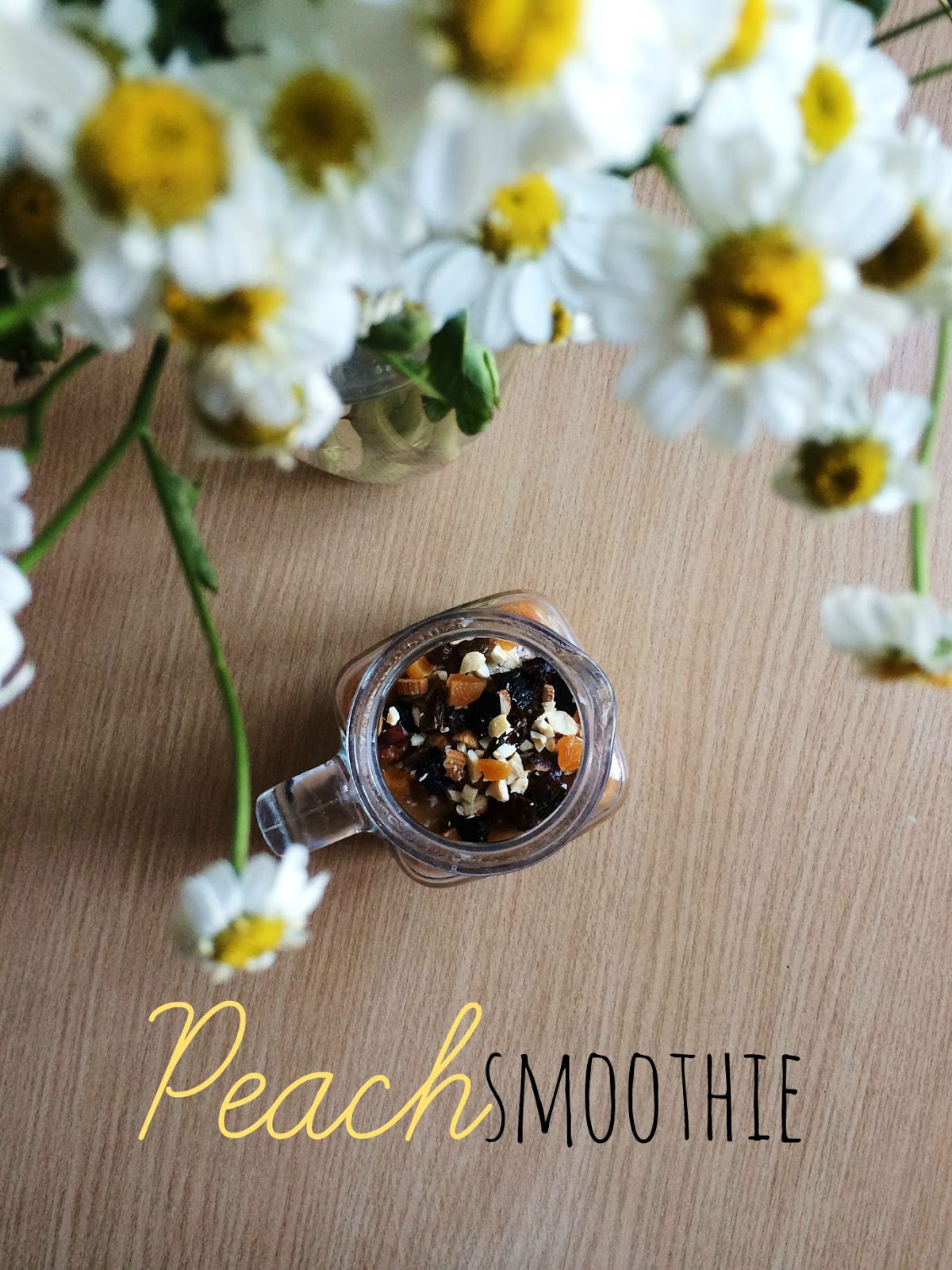 3 ingredient peach smoothie
