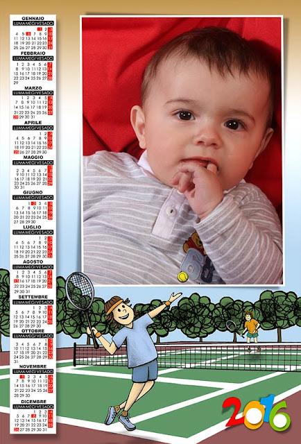 calendario 2016 per bambini