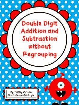 http://www.teacherspayteachers.com/Product/Double-Digit-Addition-and-Subtraction-without-Regrouping-1249714