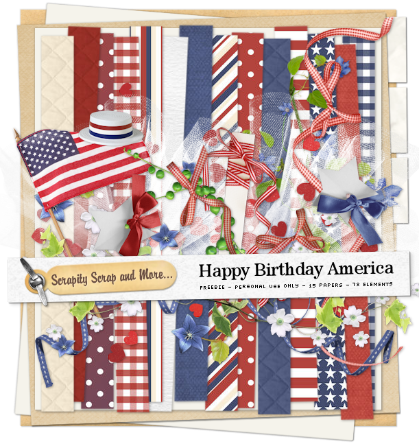Scrapkit: Happy Birthday America