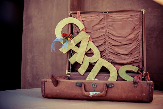 vintage card suitcase