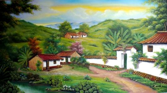 Cuadros modernos pinturas y dibujos paisajes colombianos - Cuadros faciles de copiar ...