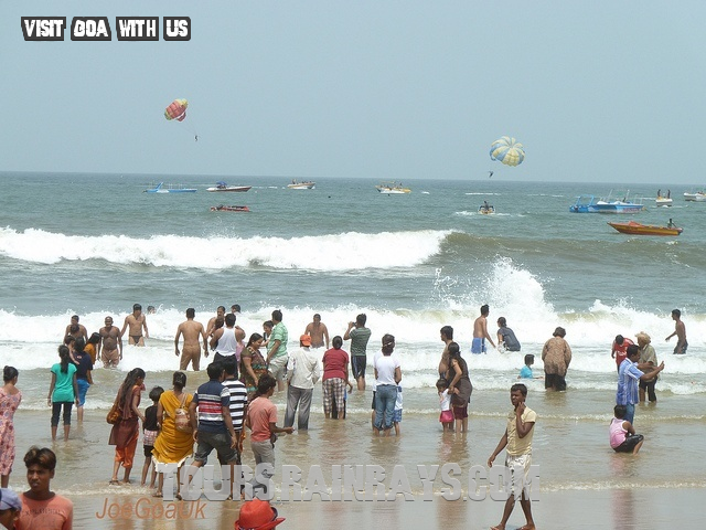 Calangute Beach Tourist Goa India. Visit India and know about real India
