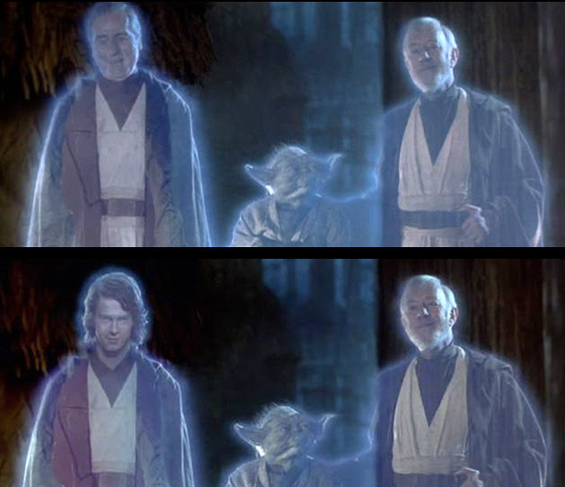 What 5 39 star wars 39 edits reveal about george lucas list - Lego star wars anakin ghost ...