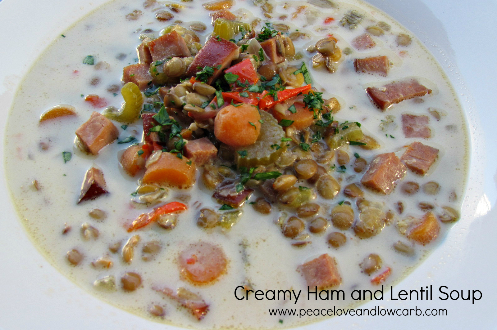 Creamy Ham and Lentil Soup