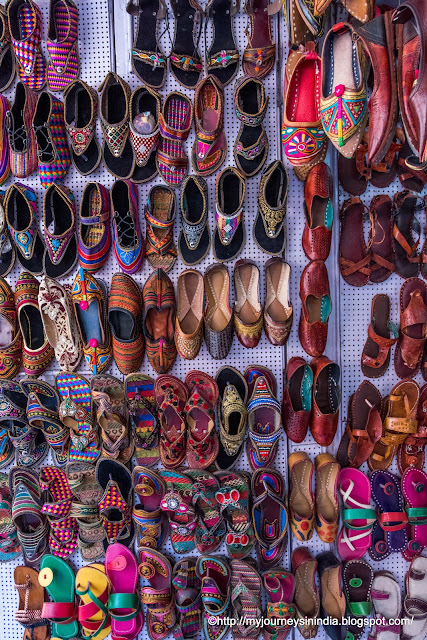 Colorful Shoes and Sandals Rajasthan