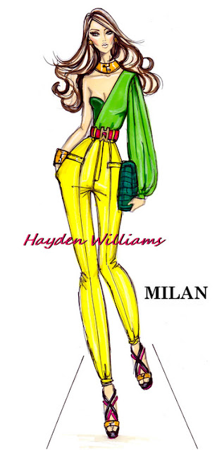hayden williams fashion sketch drawing illustration milan fashion week