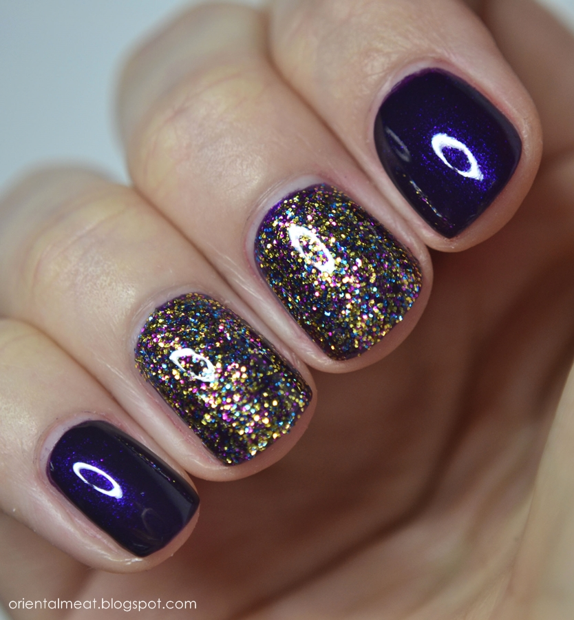 OPI-Sparkle-iscious & Joko-Sweet plum